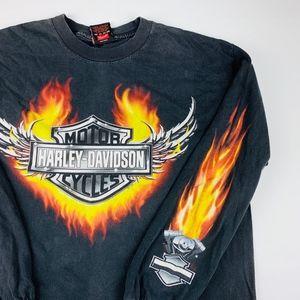 Harley-Davidson Long Sleeve Graphic Shirt L